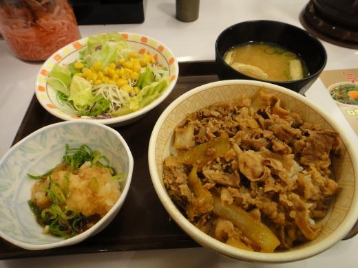"""""""おろしポン酢牛丼(並)+サラダセット</p"""