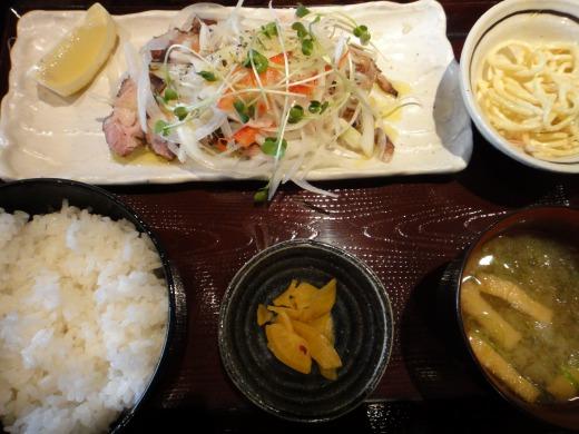 """""""鶏ももハーブ焼定食@八"""