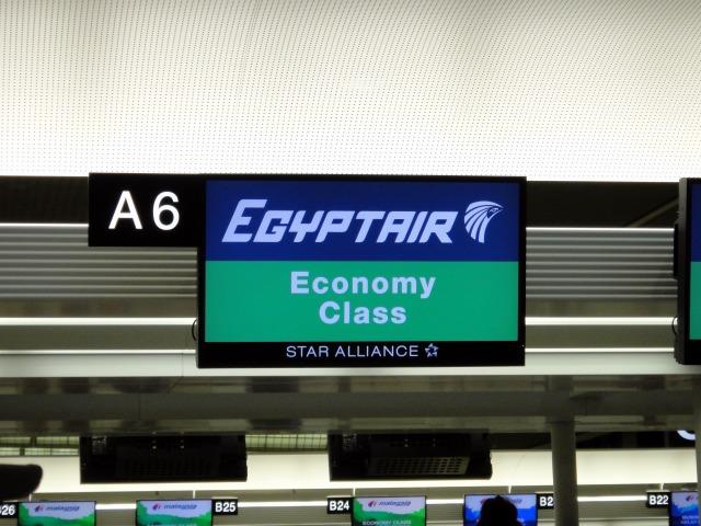 """""""エジプト航空エコノミー</p"""