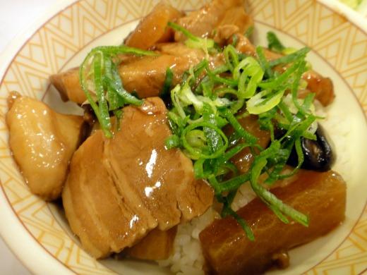 """""""こだわり丼「豚とろ丼(並)」+とん汁サラダセット</p"""