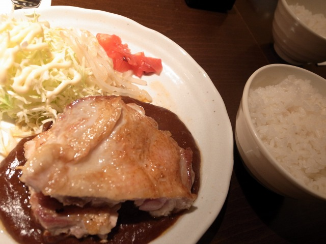 """""""チキンステーキ定食@だれんち</p"""