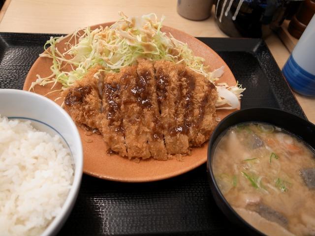 """""""ロースかつ定食@かつや</p"""