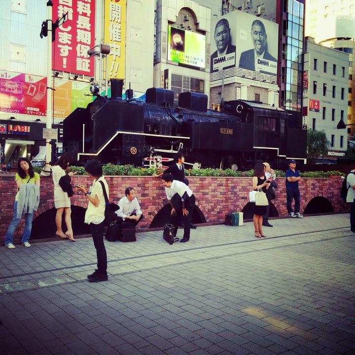 """""""新橋駅@山手線一周外回りウォーキング<br"""