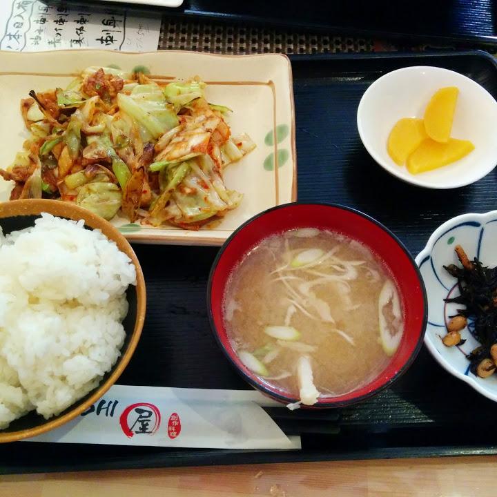 """""""日替わりランチ「豚キムチ定食」@居酒屋キッチンはやし屋<br"""