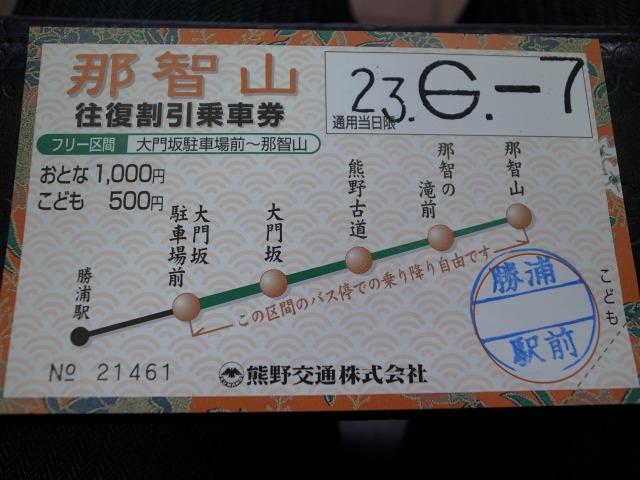 """""""往復割引乗車券@JR紀伊勝浦駅</p"""