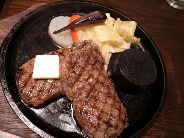 """""""和牛ハンバーグ焦がしバター醤油だれ@和牛ハンバーグ専門店"""