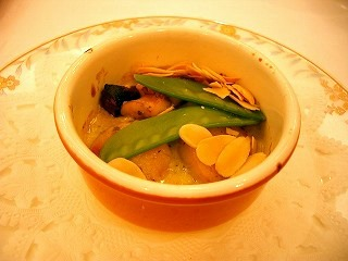 前菜2(アワビとホタテのクリーム煮)