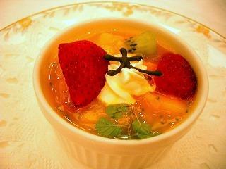 デザート2(マンゴープリン・フルーツのせ)<br