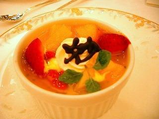 デザート2(マンゴープリン・フルーツのせ)